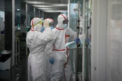La UCI covid del Hospital del Mar de Barcelona.