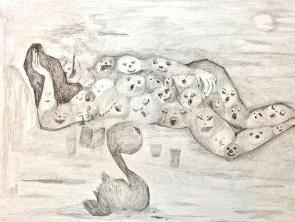 La obra 'Claroscuro Latinoamericano', de Claudia del Río.