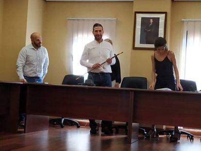 El nuevo alcalde, Lázaro Polo, el día que fue nombrado, el 15 de junio. Foto cedida por su partido.