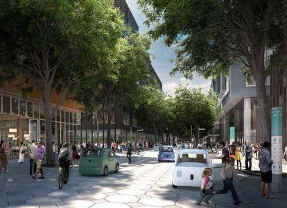 Los coches autónomos son uno de los puntos clave de su plan de movilidad, en el que también quieren fomentar el uso de la bicileta y que los trayectos a pie, con calles cuyas aceras se adaptan a los traseúntes en los picos bajos de tráfico. |