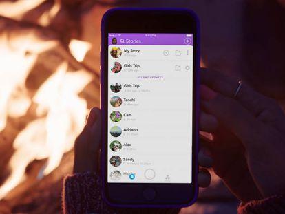 Los usuarios ya pueden crear historias colectivas en Snapchat.