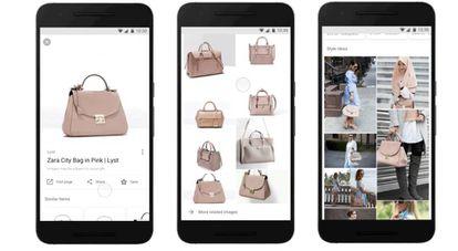 Tres de los pasos de la aplicación Style Ideas lanzada recientemente por Google.