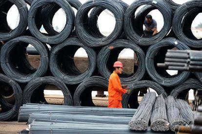 Factoría de acero en la localidad china de Qingdao