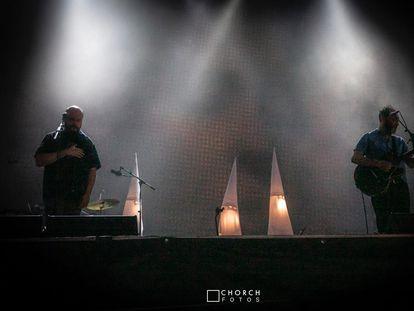 Actuación de Fuerza Nueva en Valencia.