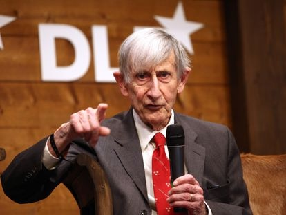 Freeman Dyson, en una foto tomada durante una conferencia en Munich (Alemania), en 2012.