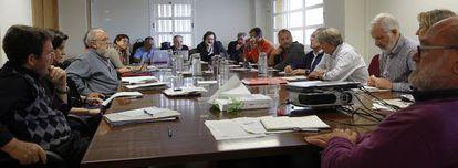 Reunión de los expertos del Foro Sevilla en la Universidad Pablo de Olavide.