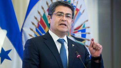 Juan Orlando Hernández, presidente de Honduras, en Washington, en una imagen de 2019.