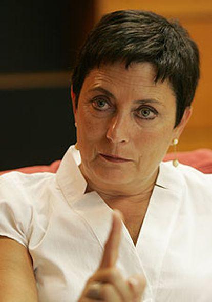 Mercedes Gallizo, durante la entrevista.