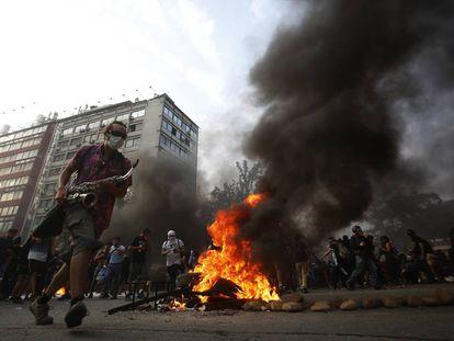Protestas el viernes en Santiago de Chile