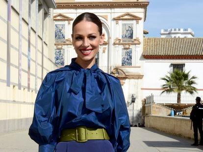 Eva González, en Sevilla en febrero.