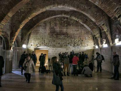 La sala capitular de Sijena, a finales de enero.