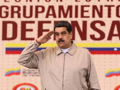 El presidente de Venezuela, Nicolás Maduro, en Caracas, el pasado 8 de enero.