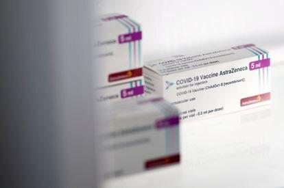 Vacunas de Oxford/AstraZeneca en un centro de vacunación en La Baule, Francia, la semana pasada.