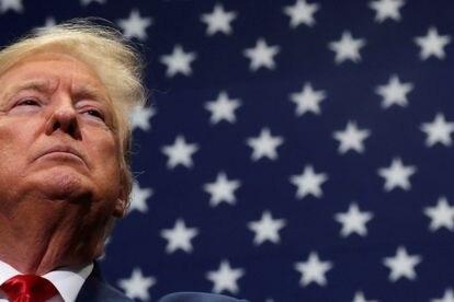 El presidente de Estados Unidos, Donald Trump, durante un mitin en Charlotte, el pasado marzo.