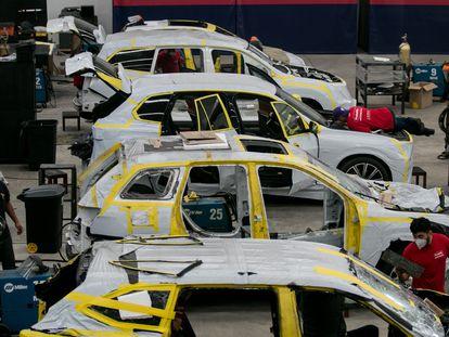 Una planta automotriz en el Estado de México, el año pasado.