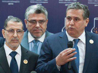 Aziz Ajanuch (derecha) en Rabat el año pasado.