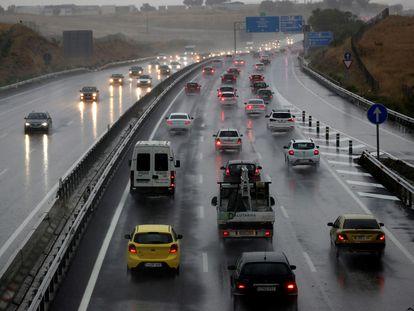 Estado del tráfico en la carretera A-5 a la altura del kilómetro 22, en la salida de Madrid el pasado 18 de septiembre.