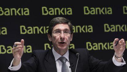 El presidente de Bankia, José Ignacio Goirigolzarri, en una rueda de prensa del pasado mes de mayo.