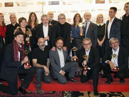 El equipo de la serie 'Isabel', ganadora de ocho premios Iris.