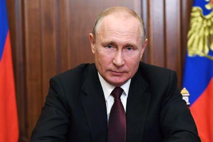 Vladímir Putin da un discurso a la ciudadanía rusa desde el Kremlin, este martes.