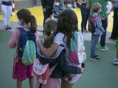 Inicio del curso escolar en el colegio San Sebastián de El Boalo en 2020.
