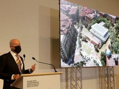 El arquitecto Norman Foster presenta en el Museo de Bellas Artes de Bilbao su proyecto de ampliación.