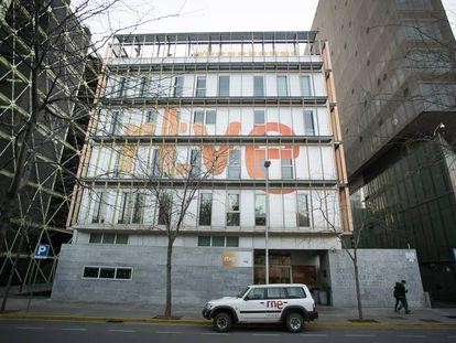 Edificio de Radio Television Espanola (RTVE) en Barcelona