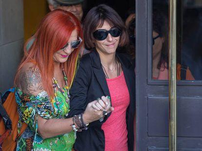 Juana Rivas, a su salida de los juzgados de Granada, el 5 de septiembre.