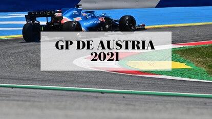 Fernando Alonso, en la jornada de entrenamientos libres del sábado 3 de julio de 2021, durante el GP de Austria de Fórmula 1.