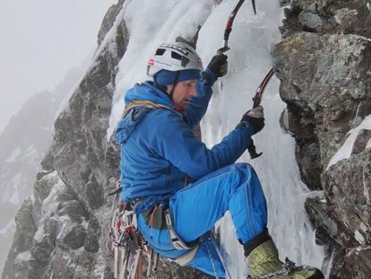 Nick Bullock, en una escalada.
