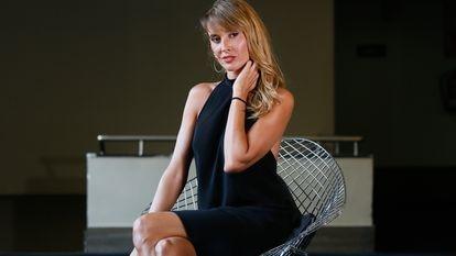 La actriz Marina San José, de 37 años, en el teatro Fígaro de Madrid el pasado día 8.