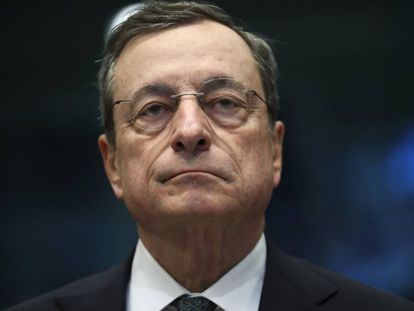 El presidente del Banco Central Europeo, Mario Draghi, en Bruselas el pasado mayo.