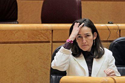 González-Sinde en la sesión de control al Gobierno celebrada este miércoles en el Senado.