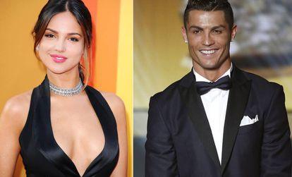 La actriz Eiza González y Cristiano Ronaldo.