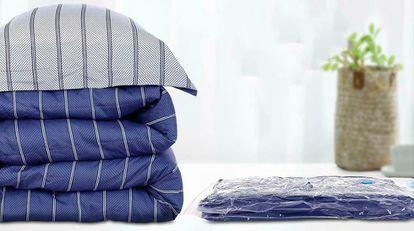 Por su tamaño estas seis bolsas permiten guardar textiles del hogar voluminosos o prendas de ropa más pequeñas.