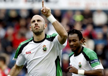 Gonzalo Colsa celebra su gol