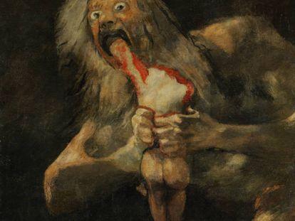 'Saturno' (Museo del Prado), una de las 'Pinturas negras' en torno a las cuales el artista Philippe Parreno ha recreado en cine el universo más tenebroso de Goya.