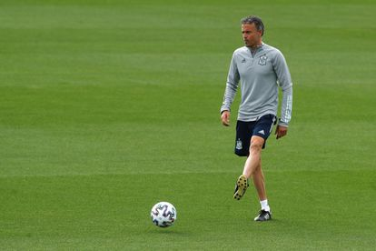 Luis Enrique directs the training of the Spanish team in Las Rozas this Tuesday.