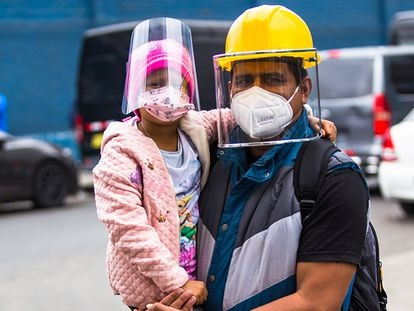 Un retrato en tiempos de la pandemia en Lima, Perú.