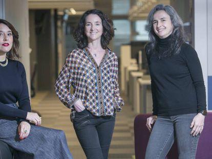 Desde la izquierda a derecha, Eugenia de la Torriente, Maribel Marín y Guiomar del Ser.