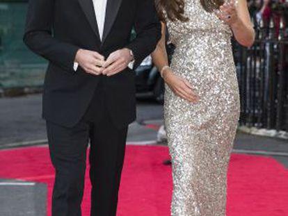 Guillermo y Kate, el pasado jueves en Londres.