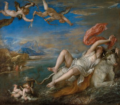 'El rapto de Europa', de Tiziano, una de las 'poesías', prestada por el Isabella Stewart Gardner Museum.