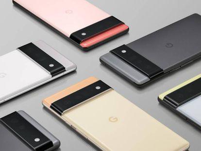 Los nuevos Pixel 6 de Google.