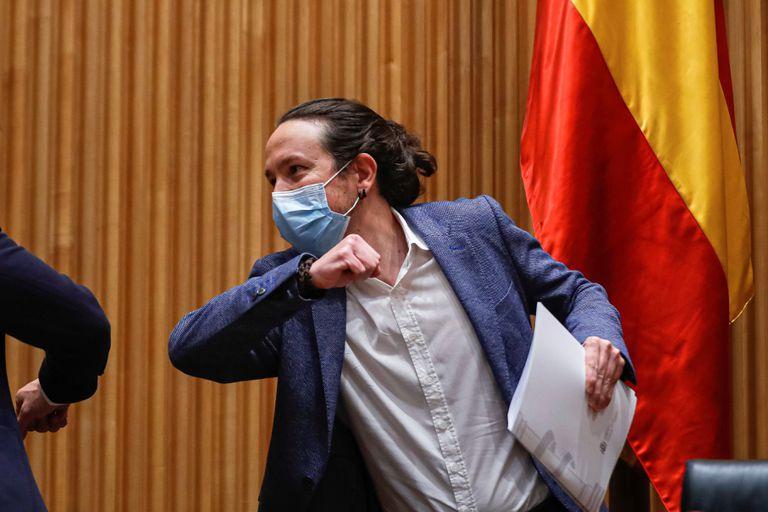 Pablo Iglesias, este jueves en el Congreso de los Diputados.