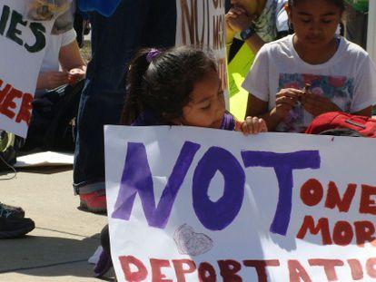 Marcha contra las deportaciones este sábado en Atlanta.