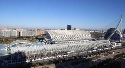 La Ciudad de las Artes y las Ciencias de Valencia, obra del arquitecto Santiago Calatrava.