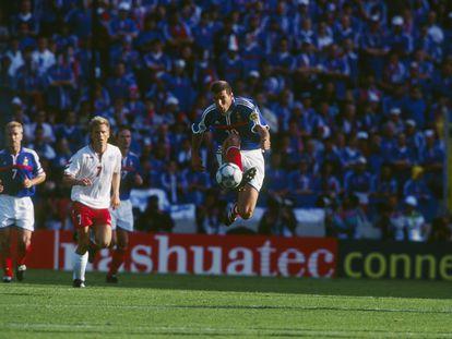 Zidane, durante la Eurocopa 2000.