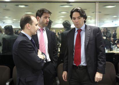 Percival Manglano (derecha) en el Consejo de Política Fiscal y Financiera del 6 de marzo.