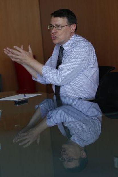 Jordi Sevilla, durante la entrevista.