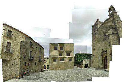 Fotomontaje cedido por los arquitectos Emilio Tuñón y Luis Moreno Mansilla con el hotel que quieren construir los dueños del restaurante Atrio.